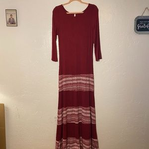NWOT- Celeste maxi dress, boat neck, size XL.
